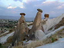 View Of Fairy Chimneys In Cappadocia