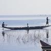 Fishermen Casting Nets On Lake Sélingué