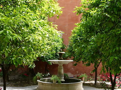 Fontaine Jardins De L Alcazar Seville