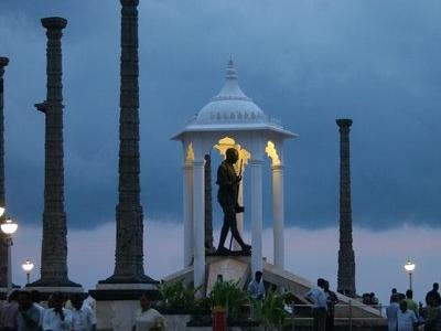 Gandhi Statue In Evening