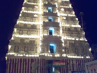 Gopuram At Night