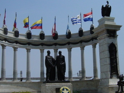 Guayaquil  La Rotonda  Bolivar  San Martin