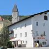 Hallein, Street With Churchtower