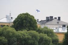 Helsinki With Flag