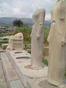 Heraion Samos Grekland Halshuggna Damer