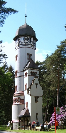 Water Tower Of Ohlsdorf Cemetery