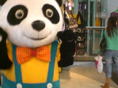Panda Mascot At The Mall