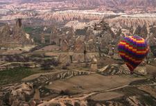 A Hot Air Balloon Over Cappadocia