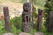 Ifugao Art Overlooking Rice Terraces