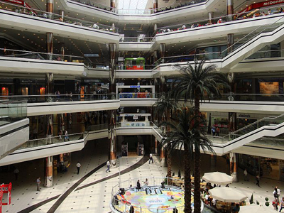 Interior Of The Cevahir Shopping Mall