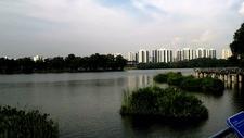 Jurong East Neighbourhood Town On The Background