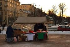 Kauppatori Market Square - Vendor Stall At Turku Finland