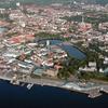 Kieler Stadtzentrum Luftaufnahme