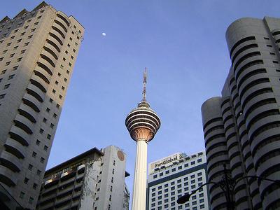 KL Tower Amid Buildings