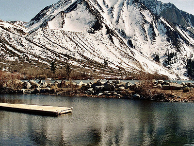 Lake And Mount Morrison In Late Spring