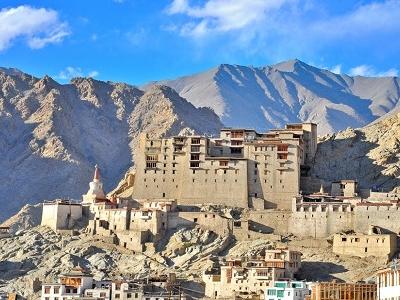 Leh Palace With Himalaya Backdrop