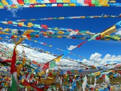 Llama Buddhist Prayer Flags - Tibet Autonomous Region - China
