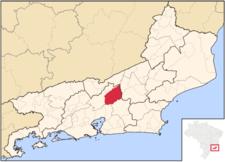 Location Of Terespolis In The State Of Rio De Janeiro