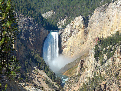 Lower Yellowstone Falls From Artists Point