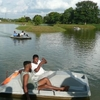 Boat Riding At The Lake In The Garden