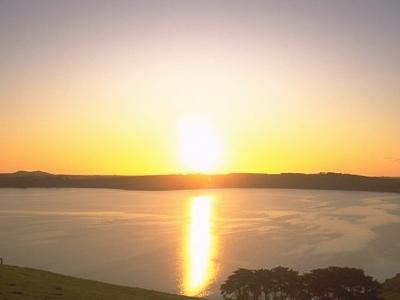 Lake  Bullen  Merri At  Sunset