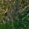 Landsat Satellite Photo Of Almaty