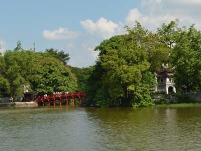 Lake Near Ngoc Son Temple