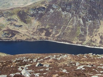 Llyn Cowlyd From Summit Of Creigiau Gleision