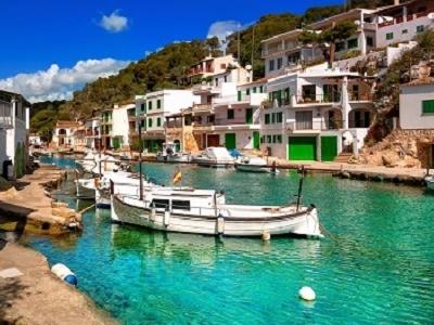 Mallorca Fishermen Village In Balearic Islands