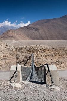 Manang Metal Bridge - Nepal