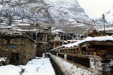 Manang Village Lane View - Nepal Himalayas