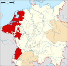 Map Indicating The Burgundian Circle Of The Holy Roman Empire