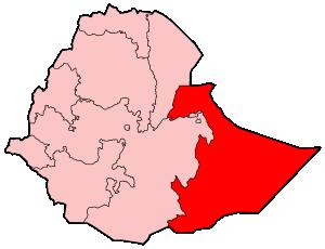 Map Of Ethiopia Showing Somali Region