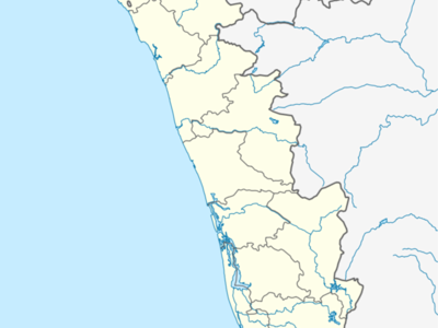 Map Of Keralashowing Location Of Cherunniyoor