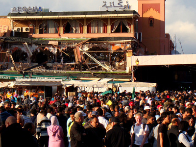 Café Argana The Day After Bombing