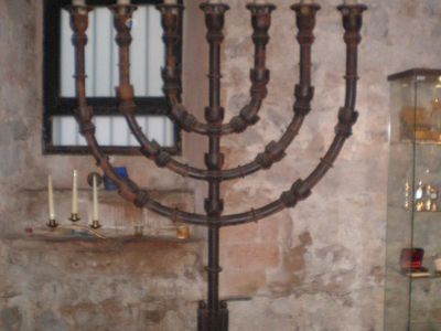 A Menorah Inside The Synagogue
