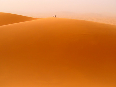 Two People Atop One Of The Main Dunes