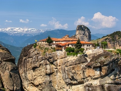 Meteora Monasteries With Landscape - Trikala - Greece