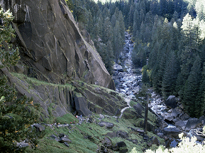 The Mist Trail Looking West