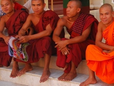 Monks In Orange