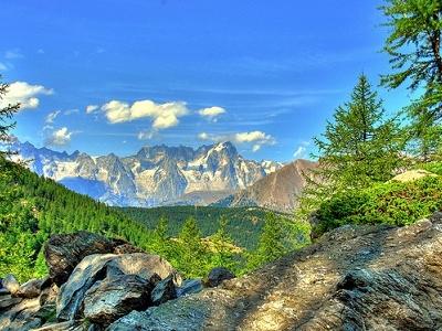 Mont Blanc With Landscape