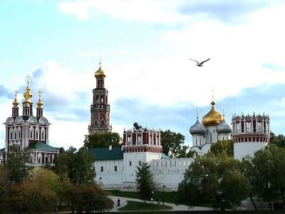 Moscow Novodevichy Convent Skyline