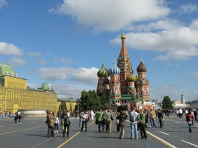 Moscow Red Square With St. Basil's Cathedral