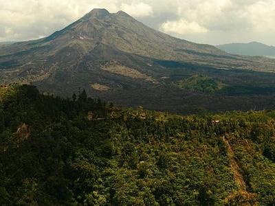 Mount Batur Seen From Kintamani