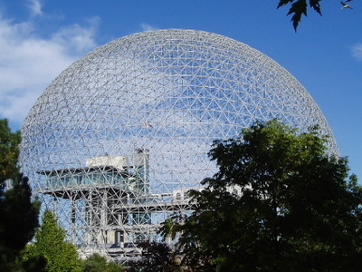 Side View Of Montreal Biosphere