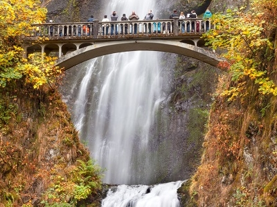 Multnomah Falls In Columbia River Gorge OR