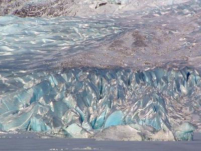 Closer View Of The Glacier In The Winter