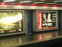 La estación de metro Universidad Católica