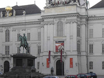 Imperial Library And The Statue Of Joseph
