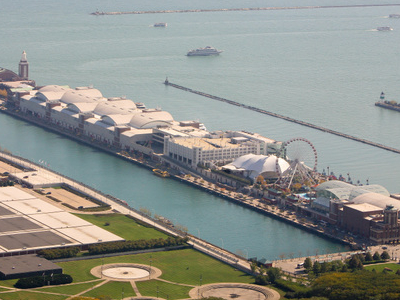 Navy Pier From Hancock Top
